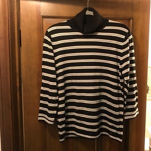 Tommy Hilfiger Striped Quarter Sleeve Sweater